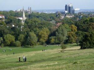 Парк Hampstead Heath (Хэмпстед Хит) недалеко от района Хайгейт.