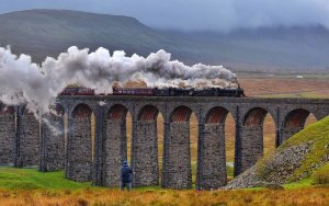 The Lancashire Fusilier on The Ribblehead Viaduct, North Yorkshire by Paul Kingston