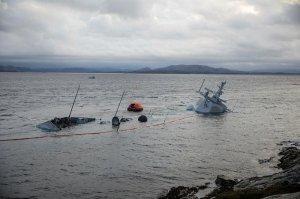 Новейший норвежский фрегат стоимость 650 лямов после столкновения затонул окончательно
