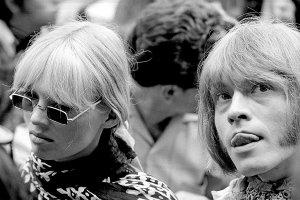 Brian Jones & Nico. Monterey Pop Festival in Monterey, California, June 1967.