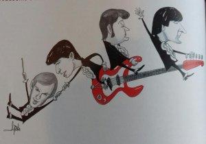 Czerwone Gitary w karykaturze