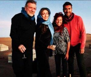 Недавнее фото Роберта с Кармен, Логаном и бывшей женой Морин в Марокко.