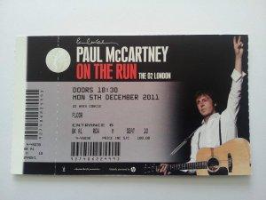 5 декабря 2011 Пол Маккартни выступил с концертом в зале O2 Arena, Лондон