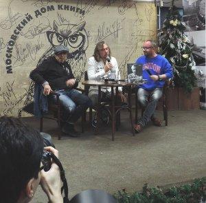 Вчера в доме книги известный журналист Миша Марголис и заслуженный деятель отечественной культуры Игорь Ивановмч Сукачев представляли совместную книгу о Гарике - известном в широких кругах пьянице и хулигане.