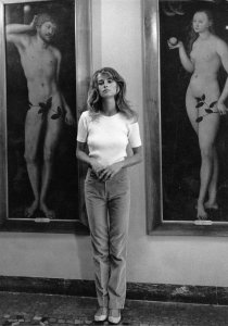 Charlotte Rampling photographed by Helmut Newton, 1973.