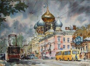 Одесса, улица Чижикова. А розовым цветом (почему-то) раскрашен наш дом № 64