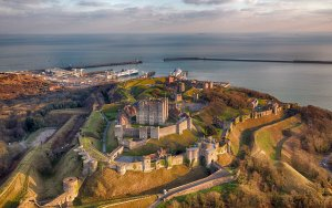 Dover Castle before sunset by Chris Gorman