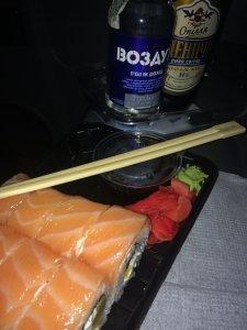 суши с прицепчиком...
