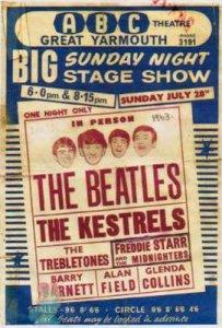 Афиша этого мероприятия 28 июля 1963г. У Битлз было два выступления в этот вечер - в 18-00 и в 20-15.