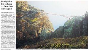 Фонд Английское наследие к лету откроет мост к руинам замка Тинтагель в Корнуолле. Переход был разрушен примерно в XV веке и теперь вот воссоздан. Есть и недовольные. Мол, нечего превращать местность в Диснейлэнд. The Daily Telegraph сегодня. Кто летом поедет, имейте в виду.
