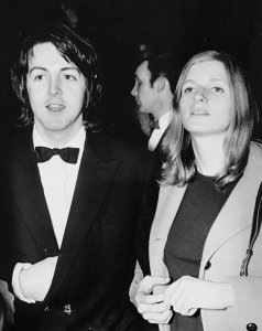 * March 4, 1969 - Paul and Linda at the London premiere of Isadora at the Odeon Theatre, St. Martin's Lane.