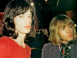 Mick and Brian, Rock & Roll Circus, December 1968.