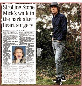 Daily Express сегодня.  Прогулка после операции.