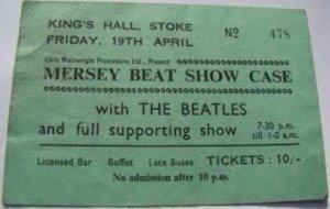 19 апреля 1963: Концерт Битлз: King's Hall, Stoke-on-Trent
