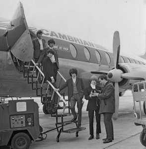 13th August 1964 - The Rolling Stones arrive in the Isle of Man on their way to Radio Caroline.