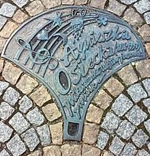 Памятная табличка Агнешки Осецкой в Легнице,