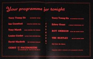19 мая 1963: концерт Битлз: Gaumont Cinema, Сток-он-Трент  Программа