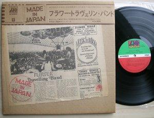 LP Flower Travellin Band - Made In Japan (Atlantic, 1972, Jp). Знаю, что Satori лучший, но все же начал с другого конца - вначале Make Up в чемодане, а когда понял, что не хватает тягучего, по-восточному заунывного, харда, от странников, докупил сделанную в Японии, в картонной упаковке и со всеми потрохами. Отличная пластинка, необычно оформленная, жесткая и боевая, но при этом очень мелодичная -