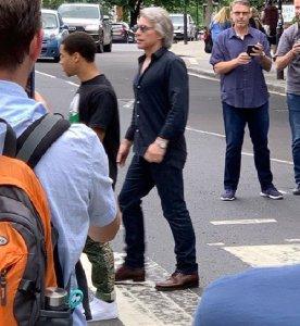 June 22, 2019. Jon Bon Jovi crossing Abbey Road in London.