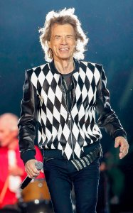 Mick Jagger of the Rolling Stones performs as they resume their No Filter Tour North American Tour at the Soldier Field in Chicago.