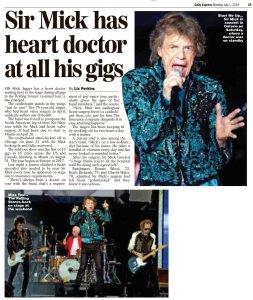 На концертах за кулисами всегда присутствует кардиолог.  Daily Express сегодня