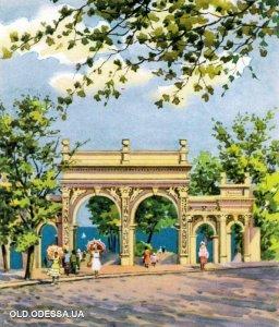 картина художника Ромадоновской - 1957 год