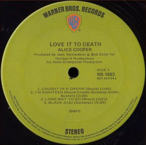 Alice Cooper Love It to Death (1971)