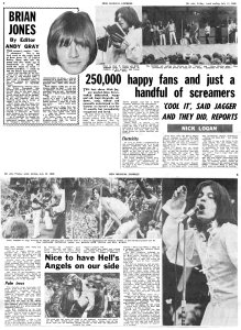 New Musical Express 12 July 1969