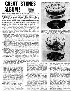 New Musical Express 29 November 1969