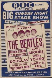 11 августа 1963 1963: Концерт Битлз: ABC Theatre, Блэкпул