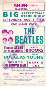 Рекламная листовка о выступлении Beatles 11 августа 1963 в театре ABC , Блэкпул