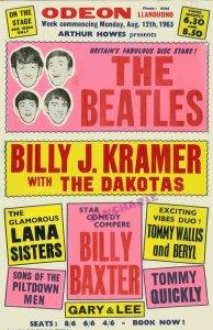 12 августа 1963 года Концерт Битлз: Odeon Cinema, Llandudno, Уэльс  Афиша концерта