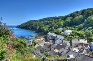 The village of Cawsand, Cornwall by Baz Richardson