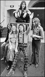 Paul McCartney and Wings, circa 1972.