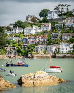Kingswear on River Dart by Bob Radlinski