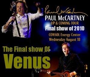 18 августа 2010:  Пол Маккартни выступил в Consol Energy Center, Питтсбург