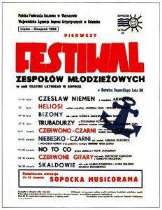 Plakat Zlota kotwica sopockiego lata