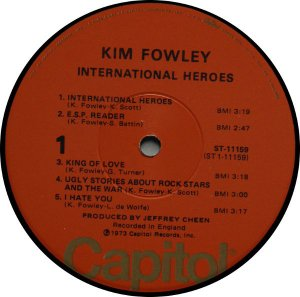 Kim Fowley – International Heroes
