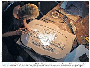 Никто не забыт и ничто не забыто Вудхаус получит свой камешек. The Daily Telegraph сегодня