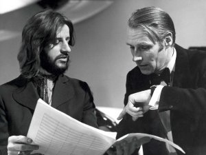 Ringo Starr appearing with George Martin on Yorkshire TV Production 'With a Little Help from My Friends' presented by George Martin. December 14, 1969