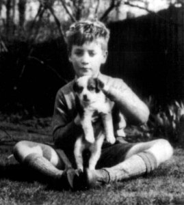 john and a puppy
