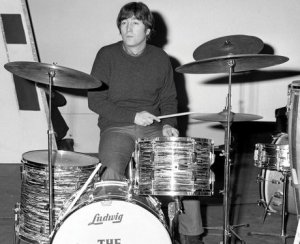 on drums