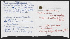 """Manuscripts of the lyrics to The Beatles hit songs """"Strawberry Fields Forever"""", """"She Said She Said"""" and """"In My Life"""", handwritten by John Lennon, have been donated to the British Library under the new Cultural Gifts Scheme."""