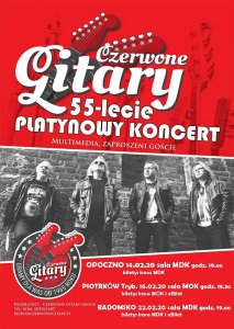 Приглашение на концерт Czerwone gitary group