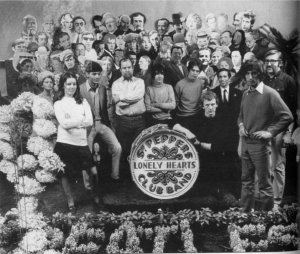 The crew that created the cover of The Beatles' Sergeant Pepper
