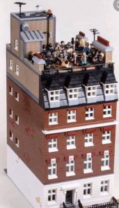 A Lego recreation of The Beatles 1969 rooftop concert