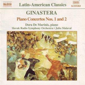 Альберто Хинастера, фортепианные концерты 1 и 2