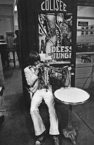 Brian Jones at a Cafe, Tangiers, Morocco, 1967 © Michael Cooper