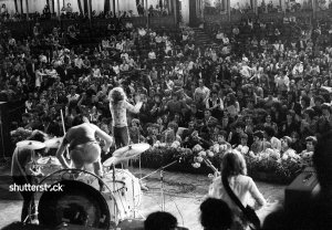 Led Zeppelin live at the Royal Albert Hall, London – 1970.  Photo by Ray Stevenson