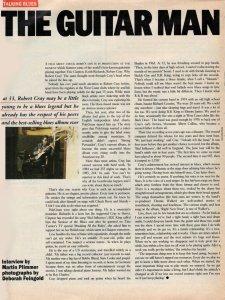 Статья о Роберте Крее переведена (с выдумками переводчика) со статьи из газеты The Observer (декабрь, 1986).